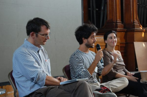 Rob hopkins, Filipa Pimentel y Juan del Rió - Conferencia Internacional de Transición 2012 - Transicion Sostenible