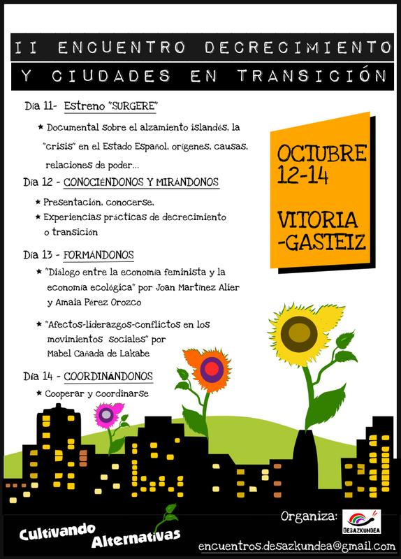 II Encuentro decrecimiento y ciudades en transición- gasteiz 2012 - Transición Sostenible