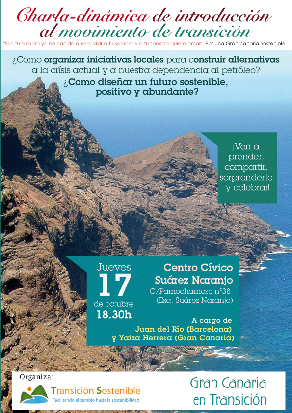 Charla-dinámica movimiento transición - Gran Canaria -Transición Sostenible